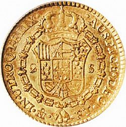 Large Reverse for 2 Escudos 1803 coin