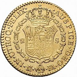 Large Reverse for 2 Escudos 1806 coin