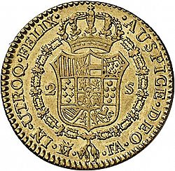 Large Reverse for 2 Escudos 1807 coin