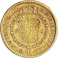 Large Reverse for 2 Escudos 1808 coin
