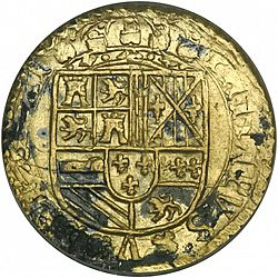 Large Obverse for 2 Escudos 1707 coin