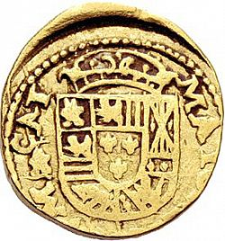 Large Reverse for 2 Escudos 1723 coin