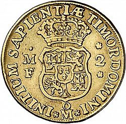 Large Reverse for 2 Escudos 1744 coin