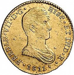 Large Obverse for 2 Escudos 1811 coin