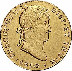 Large Obverse for 2 Escudos 1814 coin