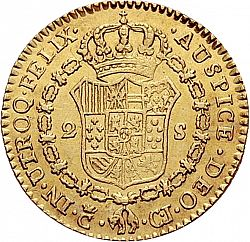Large Reverse for 2 Escudos 1814 coin