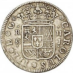 Large Obverse for 2 Reales 1759 coin