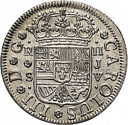 Large Obverse for 2 Reales 1760 coin