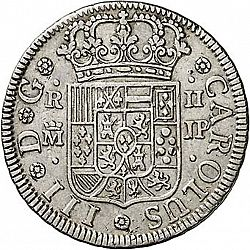 Large Obverse for 2 Reales 1762 coin