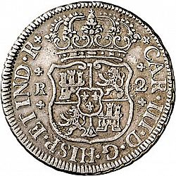 Large Obverse for 2 Reales 1763 coin