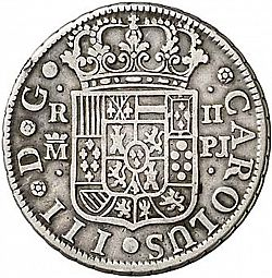 Large Obverse for 2 Reales 1767 coin