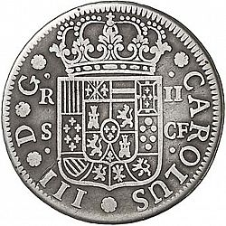Large Obverse for 2 Reales 1771 coin