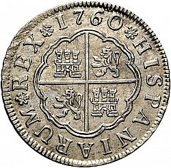 Large Reverse for 2 Reales 1760 coin