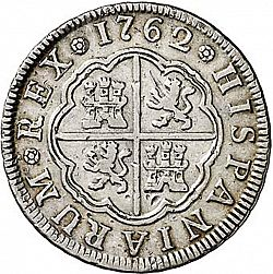 Large Reverse for 2 Reales 1762 coin