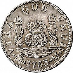Large Reverse for 2 Reales 1763 coin
