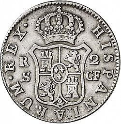 Large Reverse for 2 Reales 1775 coin