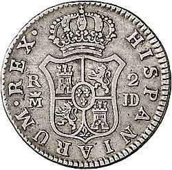 Large Reverse for 2 Reales 1784 coin