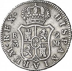 Large Reverse for 2 Reales 1788 coin