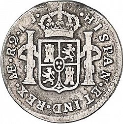 Large Reverse for 2 Reales 1790 coin