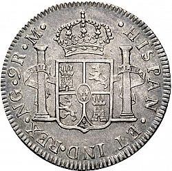 Large Reverse for 2 Reales 1791 coin