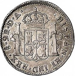 Large Reverse for 2 Reales 1793 coin