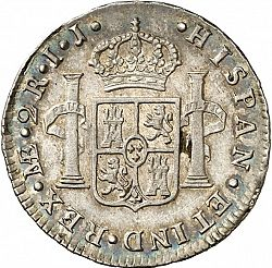 Large Reverse for 2 Reales 1794 coin