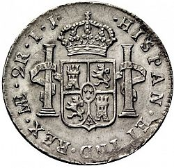 Large Reverse for 2 Reales 1796 coin