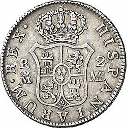 Large Reverse for 2 Reales 1797 coin