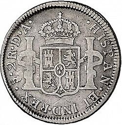 Large Reverse for 2 Reales 1799 coin