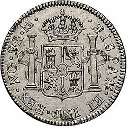Large Reverse for 2 Reales 1802 coin