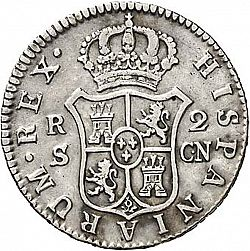 Large Reverse for 2 Reales 1806 coin