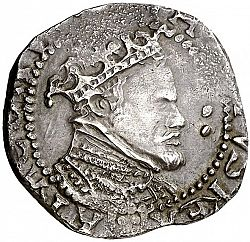 Large Obverse for 2 Reales N/D coin