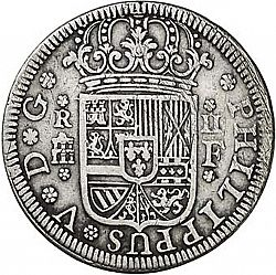 Large Obverse for 2 Reales 1728 coin