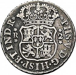 Large Obverse for 2 Reales 1742 coin