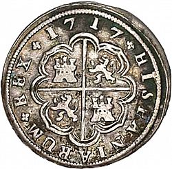 Large Reverse for 2 Reales 1717 coin