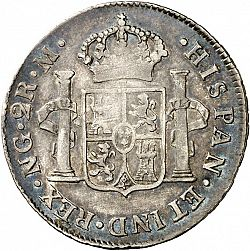 Large Reverse for 2 Reales 1815 coin