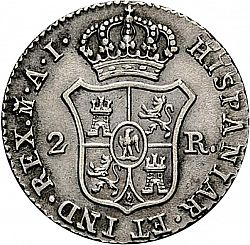 Large Reverse for 2 Reales 1811 coin