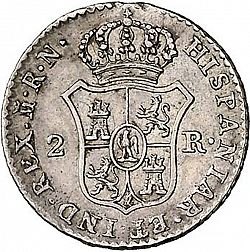 Large Reverse for 2 Reales 1813 coin