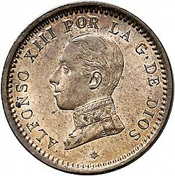 Large Obverse for 2 Céntimos 1911 coin