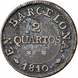 Large Reverse for 2 Cuartos 1810 coin