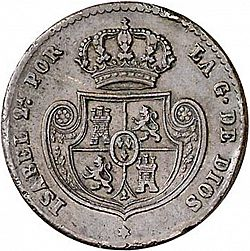 Large Reverse for Doble Décima Real 1853 coin