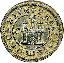 Large Obverse for 2 Maravedies 1601 coin