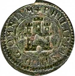 Large Obverse for 2 Maravedies 1602 coin