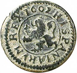 Large Reverse for 2 Maravedies 1602 coin