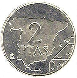 Large Reverse for 2 Pesetas 1984 coin