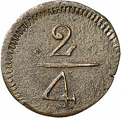 Large Reverse for 2 Quartos N/D coin
