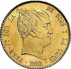 Large Obverse for 320 Reales 1822 coin