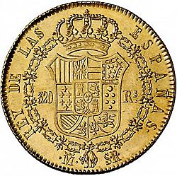 Large Reverse for 320 Reales 1822 coin