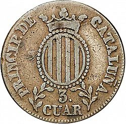 Large Reverse for 3 Cuartos 1836 coin
