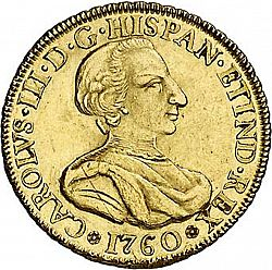 Large Obverse for 4 Escudos 1760 coin